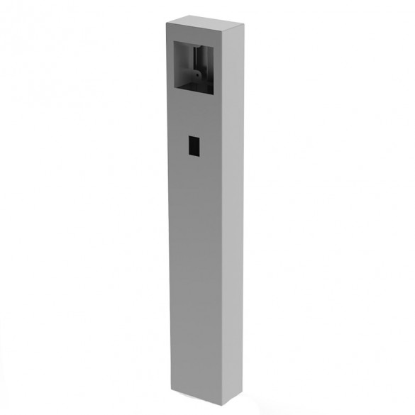 """60"""" ADA Compliant Stainless Steel Square Heavy Duty Tower Style Pedestal (In-Ground) For Knox Box 106TOW-PRO-001-304"""