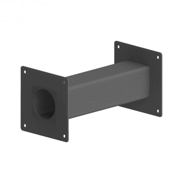 "12"" Black Steel Pedestal Extension Arm Adaptor 12-EXT-3"
