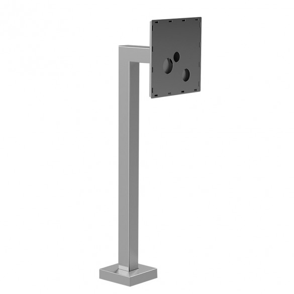 "45"" Stainless Steel Architectural Style Gooseneck Stand (Pad Mount) for MVI KeyCom© BOLT 33PED-MVI-001-304"