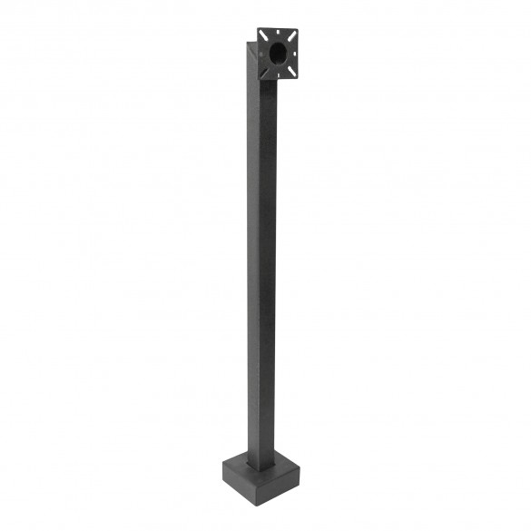 "42"" Black Steel Low Profile Pedestal (Pad Mount) 42-2LP"