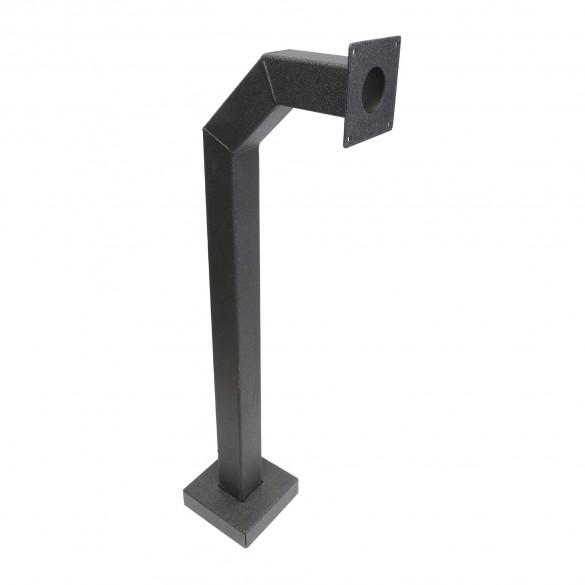 "42"" Black Square Gooseneck Pedestal (Pad Mount) 42-3-12"