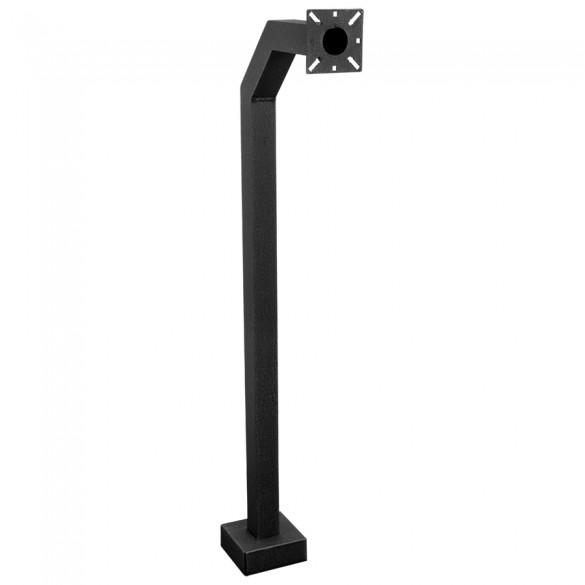"42"" Black Aluminum Architectural Gooseneck Pedestal (Pad Mount) 42-9C-ALUM-BLK"