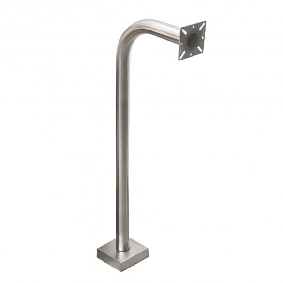 """42"""" Stainless Steel Gooseneck Pedestal (Pad Mount)"""