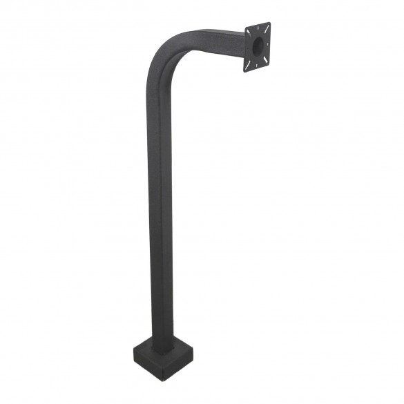"42"" Black Steel Gooseneck Pedestal (Pad Mount) 42-9C-BLK"