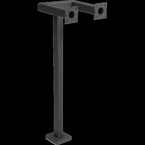 """42"""" Black Steel Side-by-Side Mount Pedestal (Pad Mount)"""