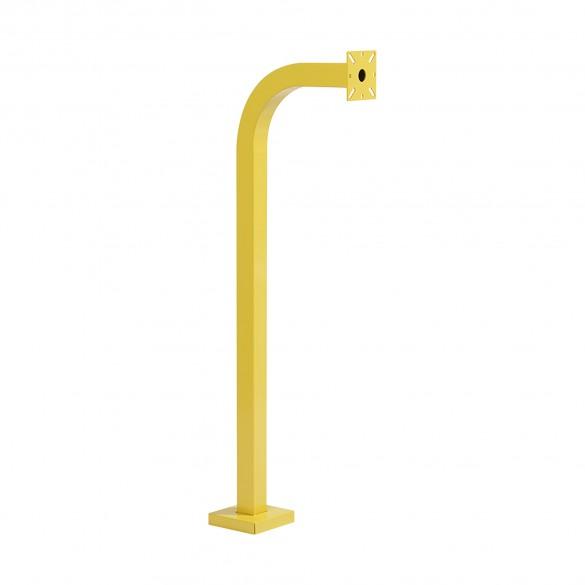 "42"" Yellow Steel Gooseneck Pedestal (Pad Mount) 42-9C-YEL"