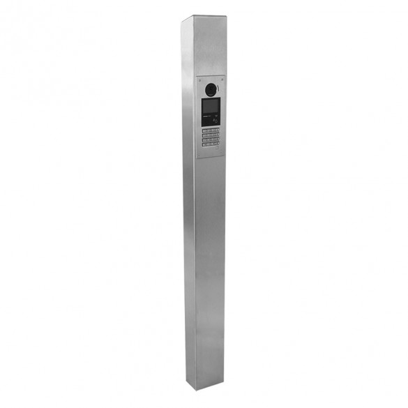 """63"""" ADA Compliant Stainless Steel Square Low Profile Tower Style Pedestal (In-Ground) for Aiphone Model GT-DMBN-SSP 64TOW-AIP-001-304"""