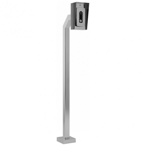 """72"""" Stainless Steel Architectural Gooseneck Pedestal (Pad Mount) 72-3-12-SS"""