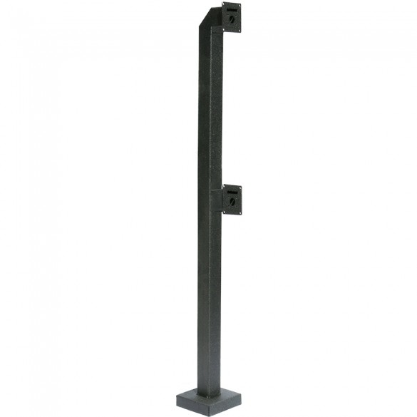 "72"" and 42"" Heavy Duty Dual Headed, Low Profile Gooseneck Stand (Pad Mount) 72-DSP-3-04-04"