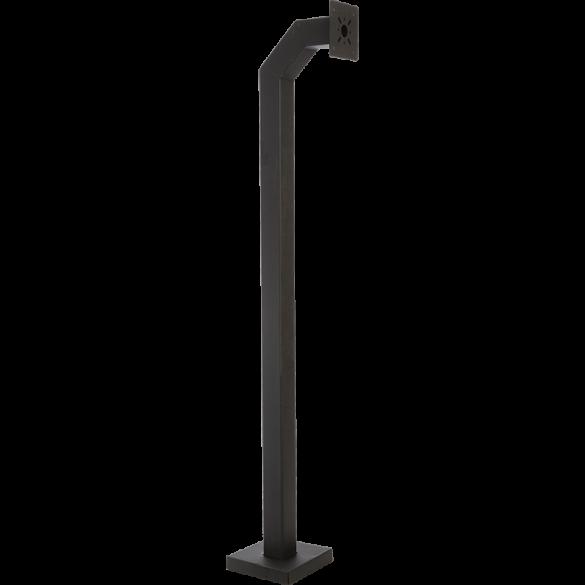 """84"""" Heavy-Duty Steel Black Gooseneck Pedestal (Pad Mount ) 84-4-12"""