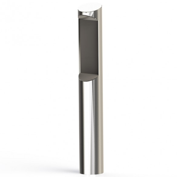 """56"""" ADA Compliant Stainless Steel Tapered Top with Alcove Rounded Heavy Duty Tower Style Pedestal (Pad Mount) for Zenitel TCIS-3 8BOL-PRO-001-304"""