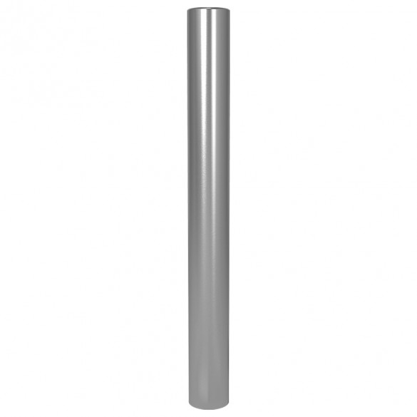 "47"" ADA Compliant Stainless Steel Flat Top Rounded Heavy Duty Tower Style Pedestal (In-Ground) ADA-SS-BOL-48x5RxF"
