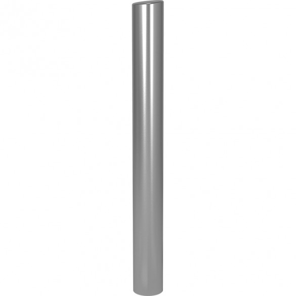 "47"" ADA Compliant Stainless Steel Tapered Top Rounded Heavy Duty Tower Style Pedestal (In-Ground) ADA-SS-BOL-48x5RxS"