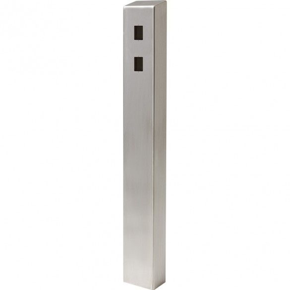 """47"""" ADA Compliant Stainless Steel Square Heavy Duty Tower Style Pedestal (In-Ground) ADA-SS-TWR-47x4x6-2"""