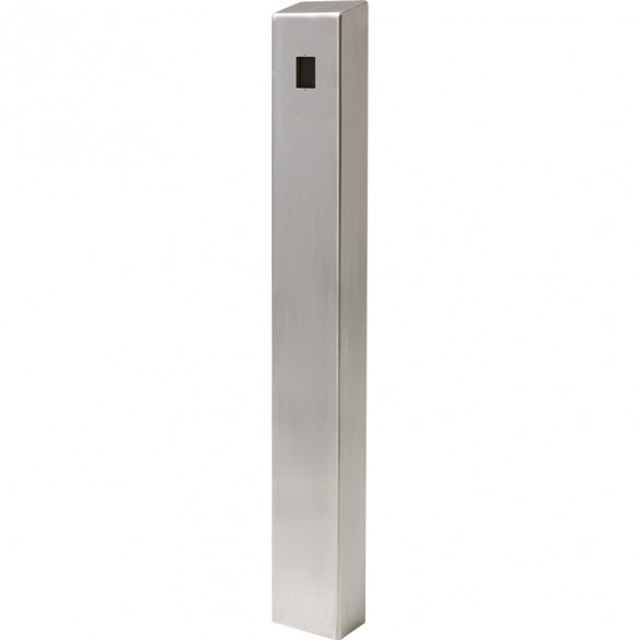 """47"""" ADA Compliant Stainless Steel Square Heavy Duty Tower Style Pedestal (In-Ground) ADA-SS-TWR-47x4x6"""