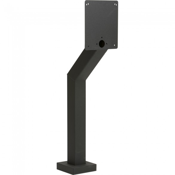 "48"" Heavy Duty Aluminum Pedestal With Large Face Plate (Pad Mount) - HD-DK-ALUM-BLK"