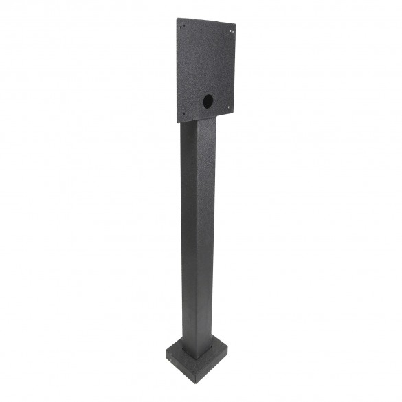 "54"" Black Steel Gooseneck Stand (Pad Mount) HD-DK-STRAIGHT"