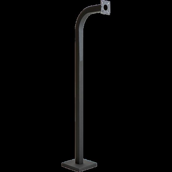 "58"" Black Steel Gooseneck Pedestal (Pad Mount)"