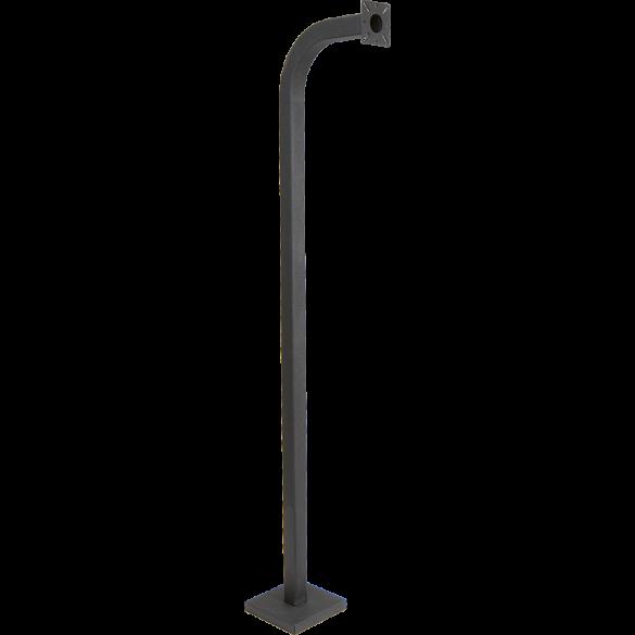 "64"" Black Steel Gooseneck Pedestal (Pad Mount)"