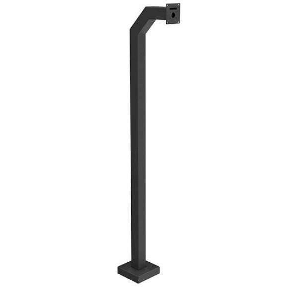 "72"" Black Steel Medium Duty Gooseneck Pedestal (Pad Mount)"