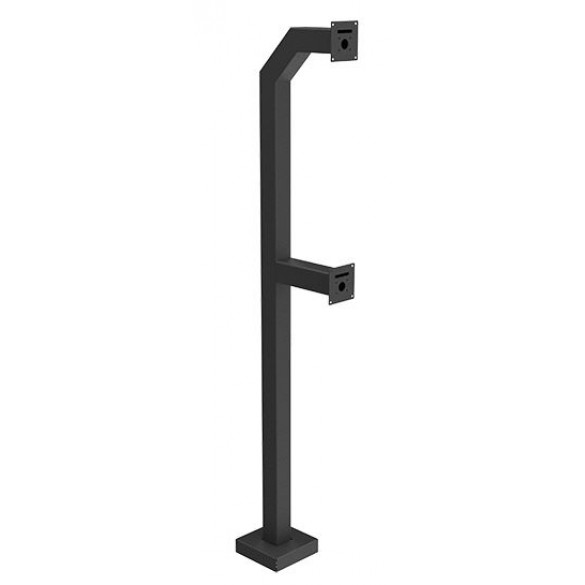 "72"" and 42"" Medium Duty Dual Gooseneck Stand (Pad Mount)"