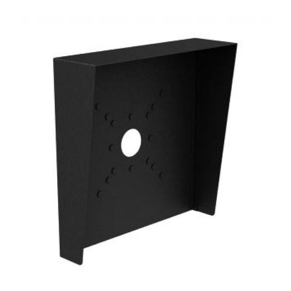 """Square Black Steel Hood (12"""" W x 12"""" H x 3"""" D)"""