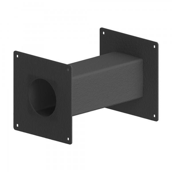 "12"" Black Steel Pedestal Extension Arm Adaptor 12-EXT-4"