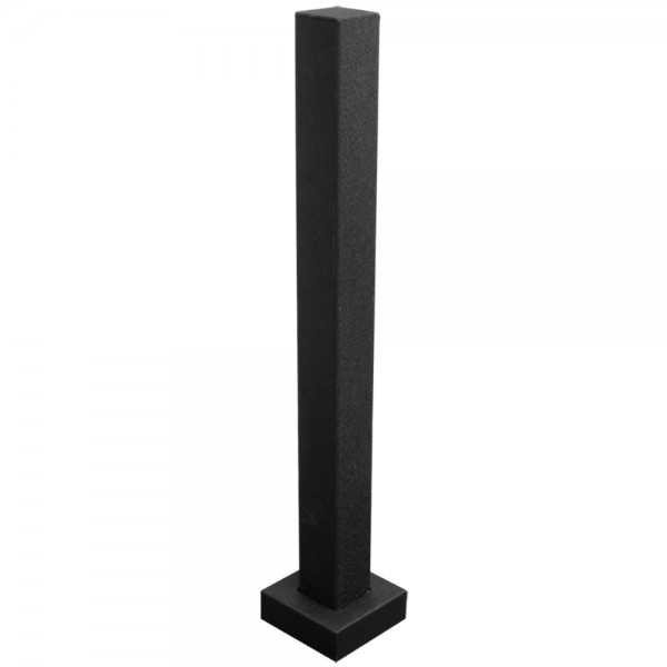 "36"" Black Steel Tower Photo Eye Pedestal (Pad Mount) 36-LP-BLK"