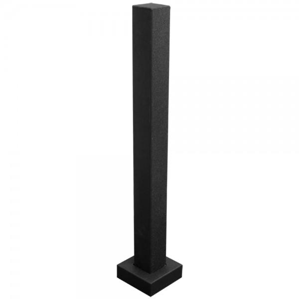 "36"" Black Steel Tower Photo Eye Pedestal (Pad Mount) 36-LP-BLK"
