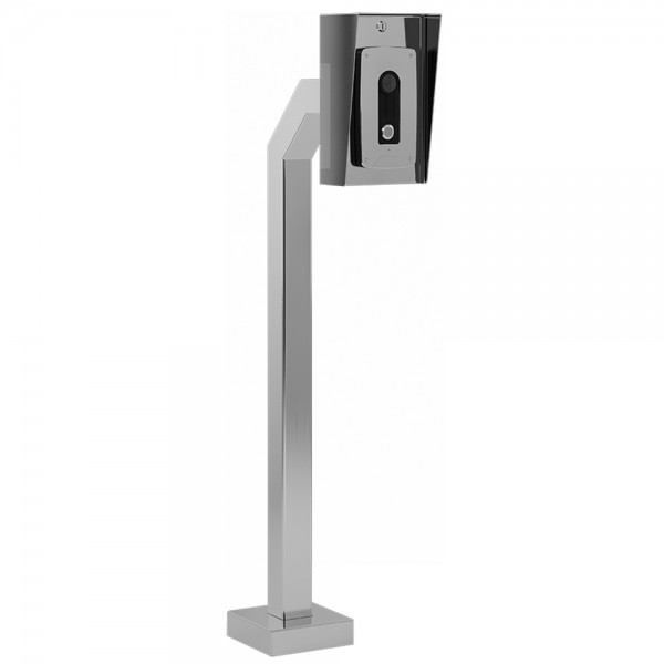 """42"""" Stainless Steel Architectural Gooseneck Pedestal (Pad Mount) 42-3-12-SS"""