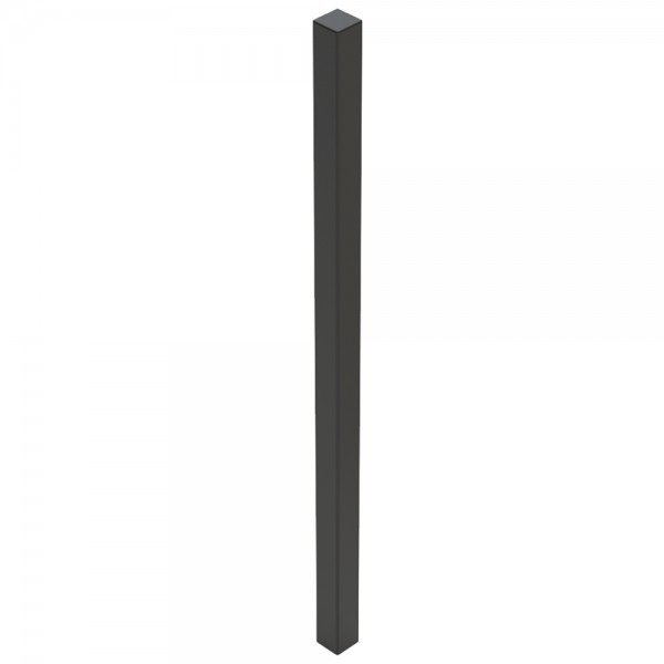 "60"" Black Steel Tower Photo Eye Pedestal (In-Ground) 60-LP-IN-BLK"
