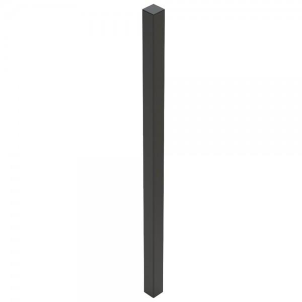 """60"""" Black Steel Tower Photo Eye Pedestal (In-Ground) 60-LP-IN-BLK"""