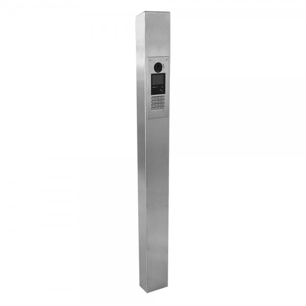 "63"" ADA Compliant Stainless Steel Square Low Profile Tower Style Pedestal (In-Ground) for Aiphone Model GT-DMBN-SSP 64TOW-AIP-001-304"