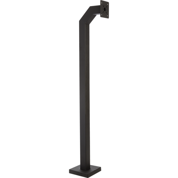 "84"" Heavy-Duty Steel Black Gooseneck Pedestal (Pad Mount ) 84-4-12"