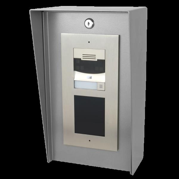 "8"" x 14"" Portrait Steel Housing For Two-Module Security Intercoms"
