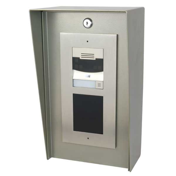 """8"""" x 14"""" Portrait Nickel-Coated Steel Housing For Two-Module Security Intercoms"""