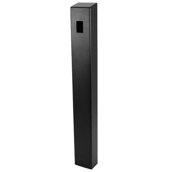 "47"" ADA Compliant Black Carbon Steel Square Heavy Duty Tower Style Pedestal (In-Ground) ADA-CS-TWR-47x4x6"