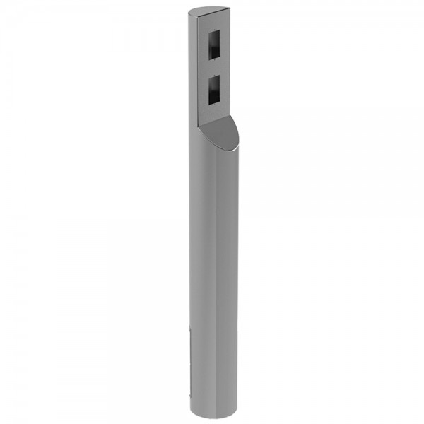 """47"""" ADA Compliant Stainless Steel Flat Top with Dual Cut-Out Flat Face Tower Style Pedestal (In-Ground) ADA-SS-BOL-48x5RxA"""
