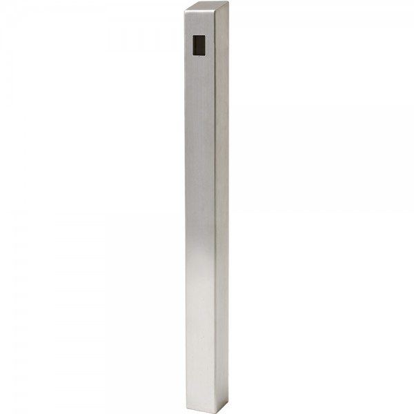 "47"" ADA Compliant Stainless Steel Square Heavy Duty Tower Style Pedestal (In-Ground) ADA-SS-TWR-47x4x4"