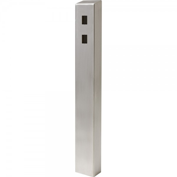 "47"" ADA Compliant Stainless Steel Square Heavy Duty Tower Style Pedestal (In-Ground) ADA-SS-TWR-47x4x6-2"