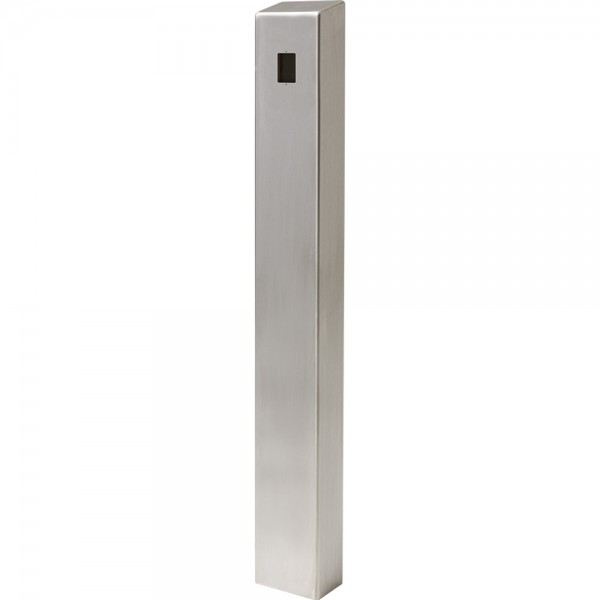 "47"" ADA Compliant Stainless Steel Square Heavy Duty Tower Style Pedestal (In-Ground) ADA-SS-TWR-47x4x6"