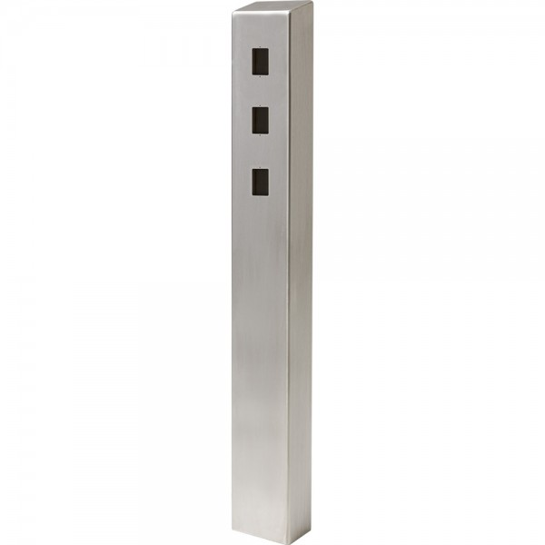 "47"" ADA Compliant Stainless Steel Square Heavy Duty Tower Style Pedestal (In-Ground) ADA-SS-TWR-47x4x6-3"