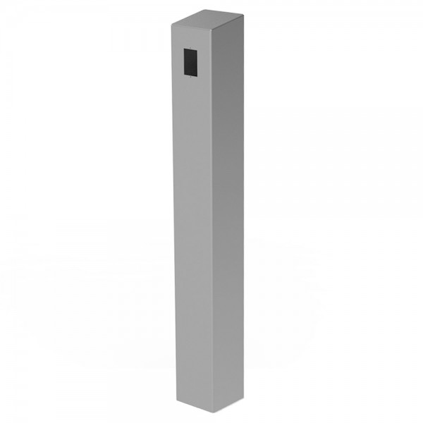 "47"" ADA Compliant Stainless Steel Square Heavy Duty Tower Style Pedestal (In-Ground) ADA-SS-TWR-47x6x6"