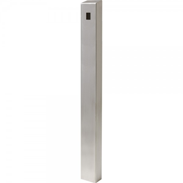 "59"" ADA Compliant Stainless Steel Square Heavy Duty Tower Style Pedestal (In-Ground) ADA-SS-TWR-60x4x6"