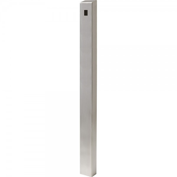 "72"" ADA Compliant Stainless Steel Square Heavy Duty Tower Style Pedestal (In-Ground) ADA-SS-TWR-72x4x6"