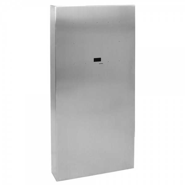 "54"" ADA Compliant Stainless Steel Square Heavy Duty Tower Style Pedestal (In-Ground) for ButterflyMX 21"" Surface Mount MX-SS-21S"