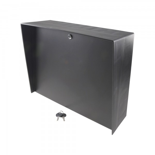 """Landscape Black Polycarbonate Housing (20"""" W x 16"""" H) LANDO-PC-20X16-E-BLK"""