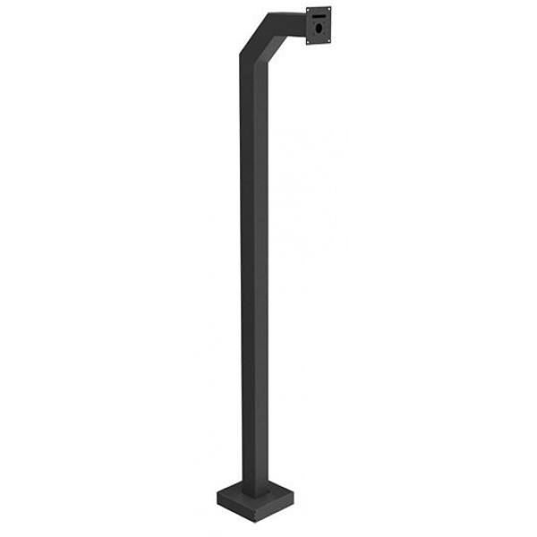 "72"" Black Steel Medium Duty Gooseneck Pedestal (Pad Mount)"