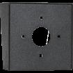 "Square Black Steel Hood (6"" W x 6"" H x 3"" D) back"