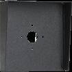 """Square Black Steel Hood (10"""" W x 10"""" H x 3"""" D)"""
